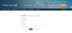 Christian Web Host Login
