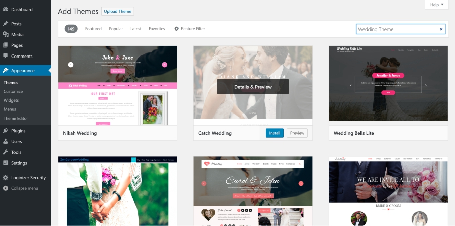 Wedding Website Theme